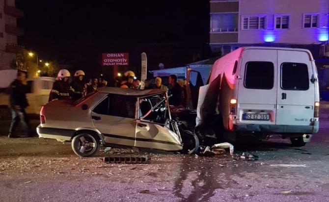 2 aracın karıştığı kazada 1 kişi yaralandı