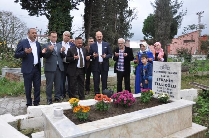 Terme Belediyesi Kurtuluş Savaşı gazisinin mezarını yeniledi