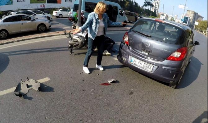 """İstanbul'da """"kasap et, koyun can derdinde"""" dedirten kaza"""