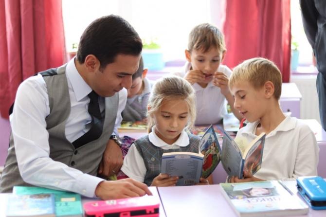 Topağaç İlkokulu'nda okuma etkinliği
