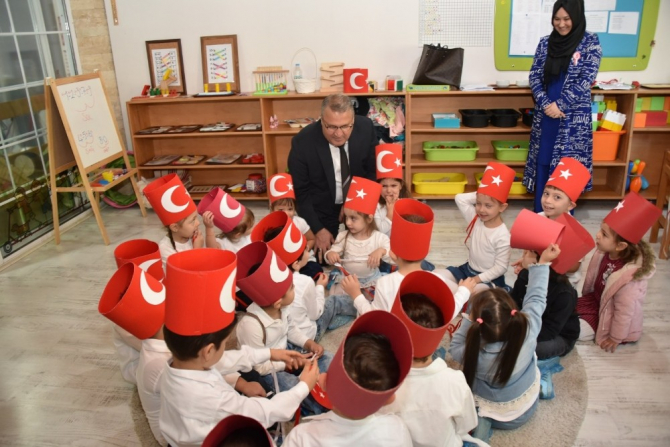 Yunusemreli minikler Cumhuriyet Bayramı'nı kutladı