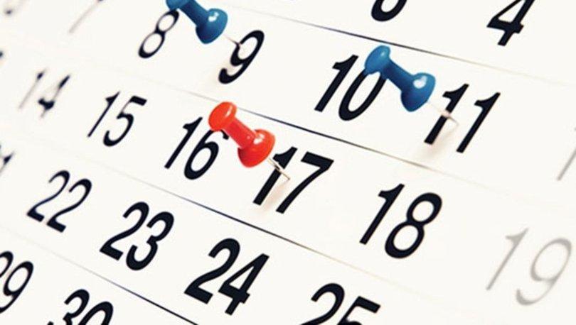 Resmi tatiller 2019-2020 ne zaman? 2020 resmi tatil takvimi nasıl?