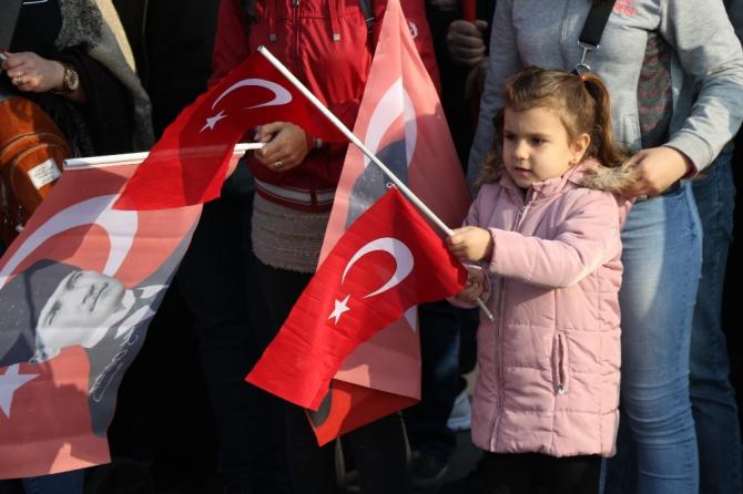 96 yıllık gurur Edirne'de coşkuyla kutlandı