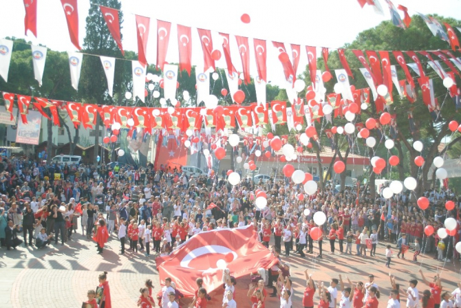 Kuyucak'ta Cumhuriyet Bayramı kutlamaları