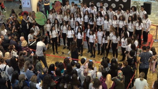 Denizli'de lise öğrencilerinden 'Cumhuriyet' konseri