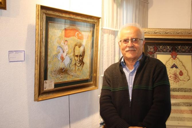 İranlı sanatçı çiftten Atatürk tablosu