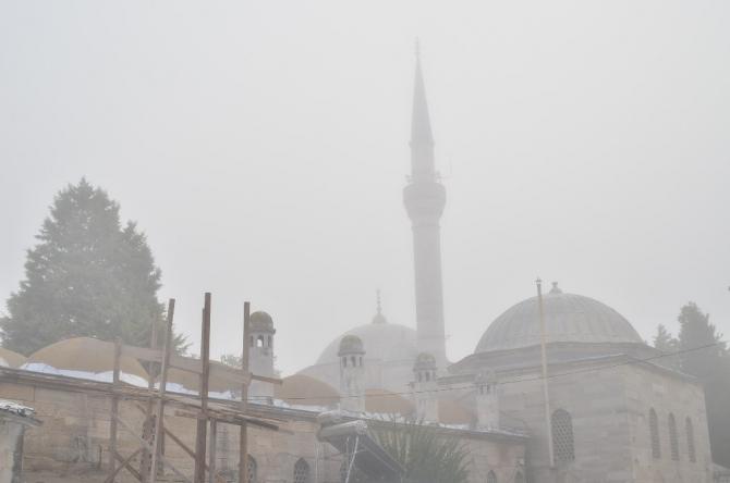 Lüleburgaz'da yoğun sis