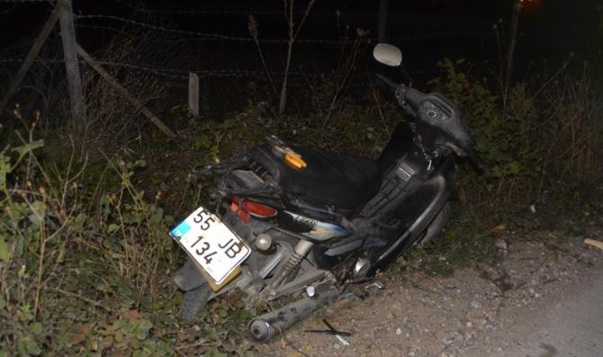 Motosikletten düşen şahıs yaralandı