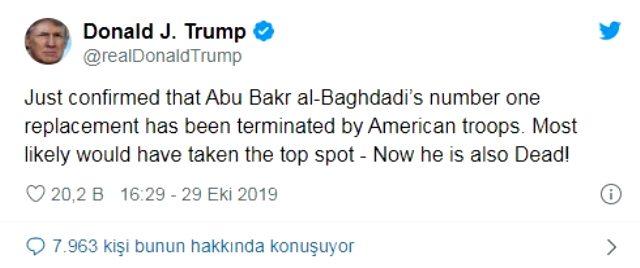 ABD Başkanı Donald Trump'ın öldürüldüğünü açıkladığı kişi belli oldu