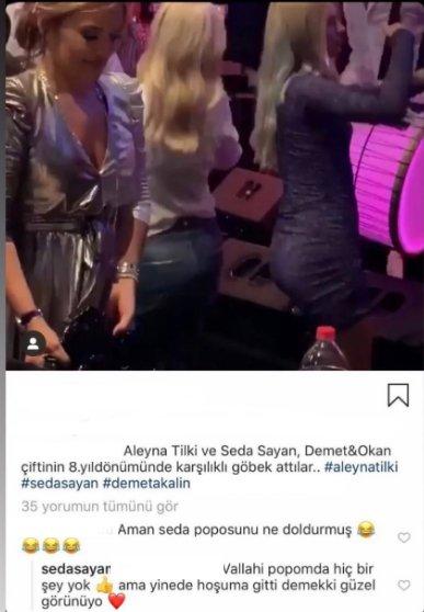 Seda Sayan'dan takipçisine cevap: Vallahi popomdan hiçbir şey yok