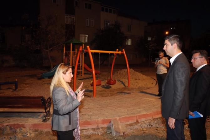 Başkan Gökhan Yüksel, yapımı devam eden yeni park alanlarını inceledi