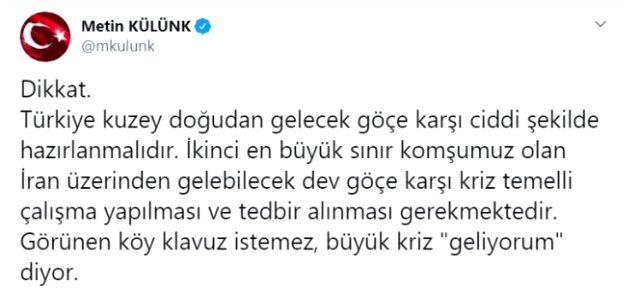 Erdoğan'a yakın isimden dikkat çeken uyarı: Büyük göç geliyor