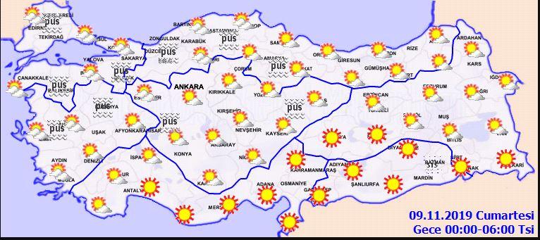 Meteoroloji 8 Kasım Cuma hava durumu son dakika! Bugün hava nasıl olacak?