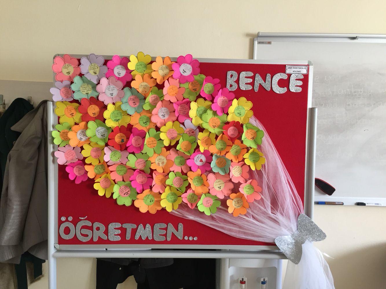 Öğretmenler Günü panosu  Pano örnekleri   Pano süslemeleri, çalışmaları