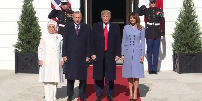 Beyaz Saray'da kritik zirve! Erdoğan - Trump görüşmesi başladı