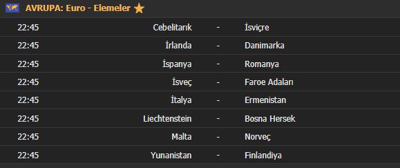 Bugün hangi maçlar var | EURO 2020 Elemeleri | 18 Kasım maç takvimi