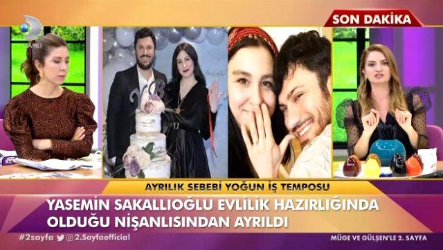 Yasemin Sakallıoğlu nişanı attı