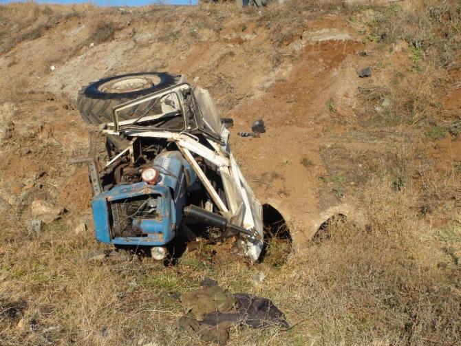 Yozgat'ta traktör devrildi: 1 kişi yaralandı