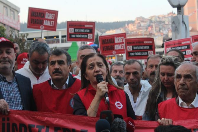 """Disk Genel Başkanı Arzu Çerkezoğlu: """"Vergide adalet mücadelesini omuz omuza yürütüyoruz"""""""