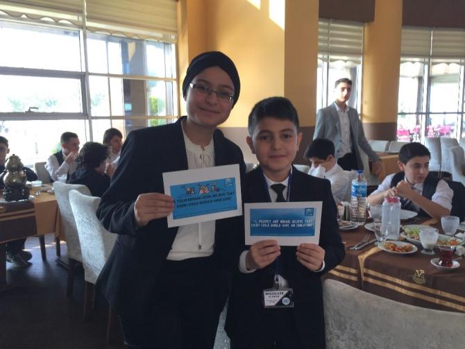 Trabzon'da geleceğin liderleri çocuk hakları için toplandı