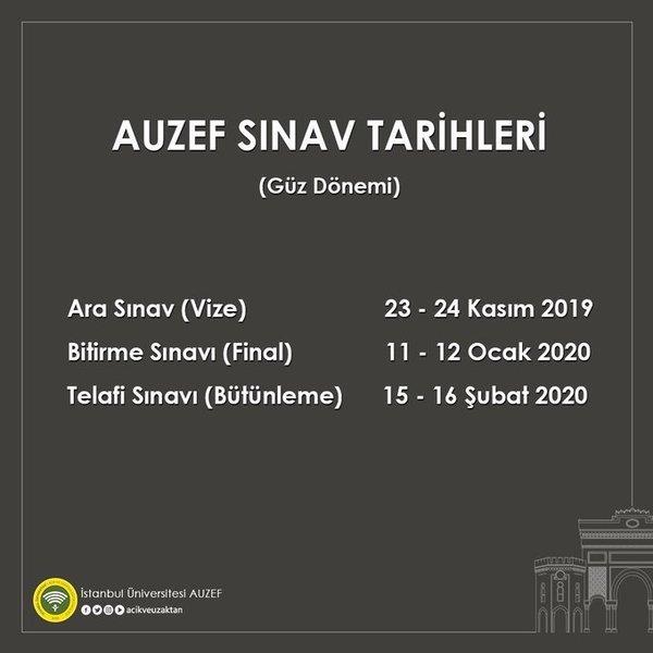 AUZEF sınav sonuçları 2019 | AUZEF vize sonuçları | Sınav sonuçları açıklandı mı?