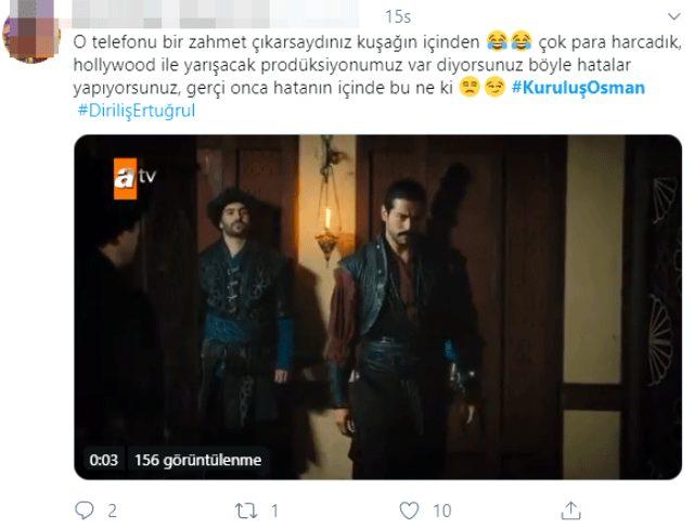 Kuruluş Osman'da telefon hatası izleyicinin gözünden kaçmadı