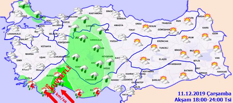 Meteoroloji'den o illerde yaşayanlara flaş uyarı: Yağış ve rüzgar kuvvetli geliyor