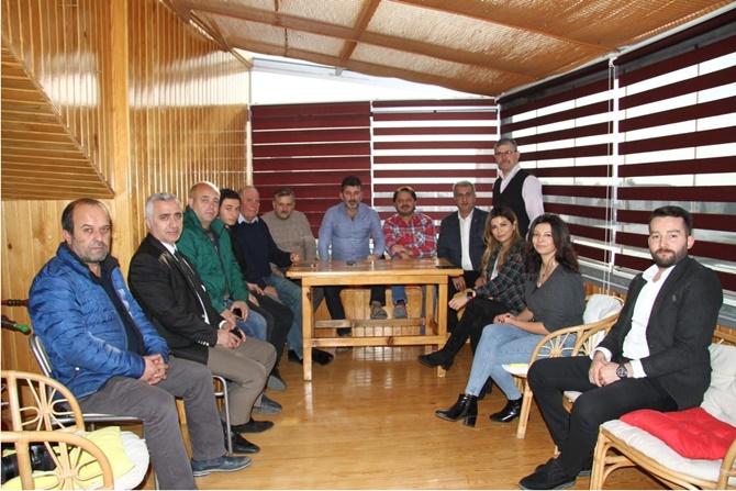 Avrasya Gazeteciler Derneği'nden Murat Şahin'e teşekkür ziyareti
