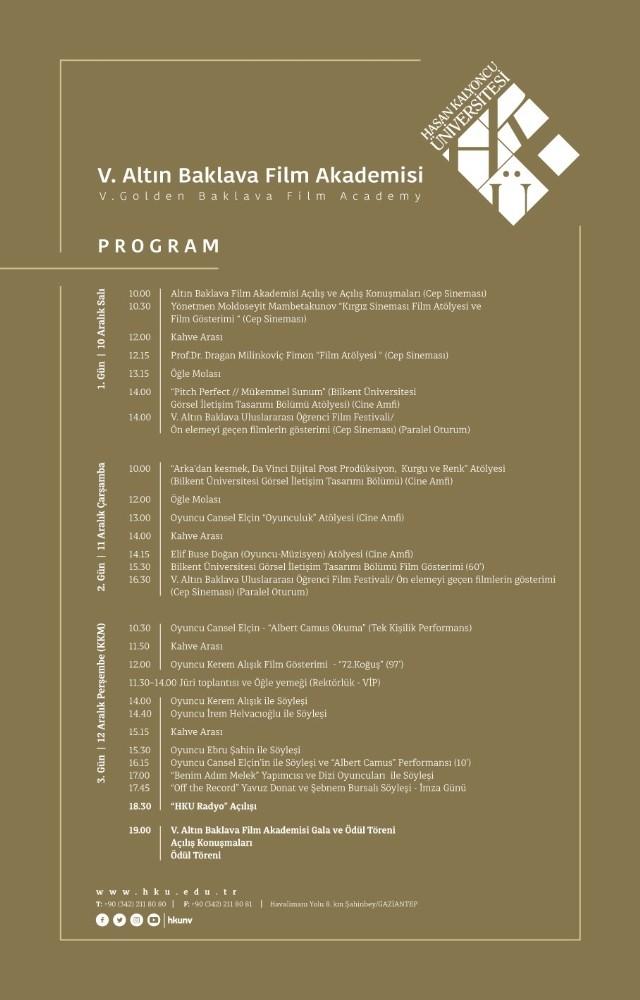 Altın baklava film akademisi V. uluslararası öğrenci film festivali