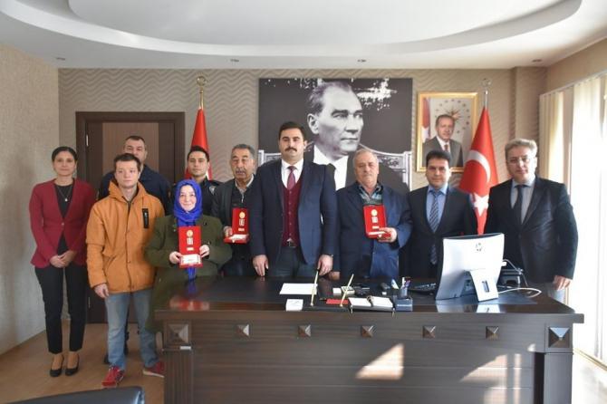 Buharkent'te Kıbrıs gazileri için madalya tevci töreni yapıldı