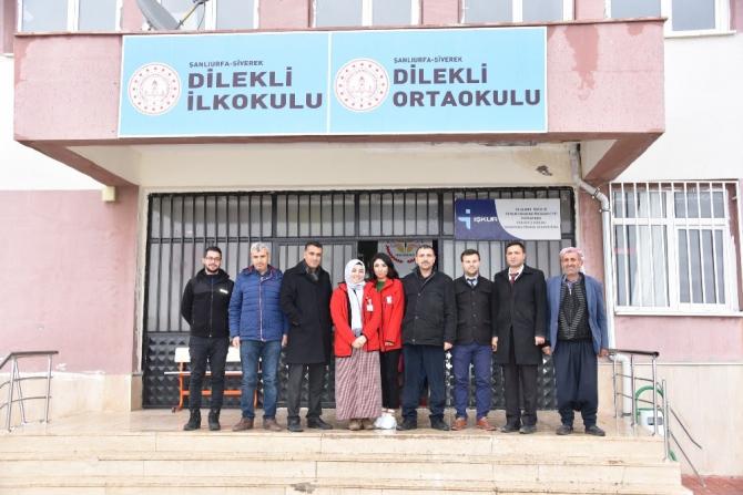 Kızılay'dan Kırsalda eğitim alan öğrencilere temizlik malzemesi