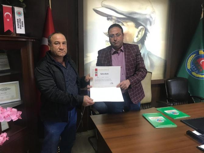 Tarsus'ta budama kurusunu tamamlayanlara sertifika
