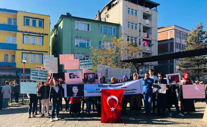 Korgan'da kadına şiddet ve cinayetlere tepki yürüyüşü