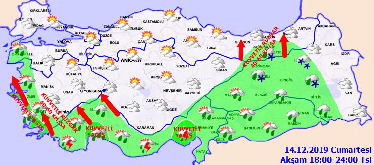 Meteoroloji'de kuvvetli yağış ve fırtına uyarısı yapıldı: O saatlerde geliyor...