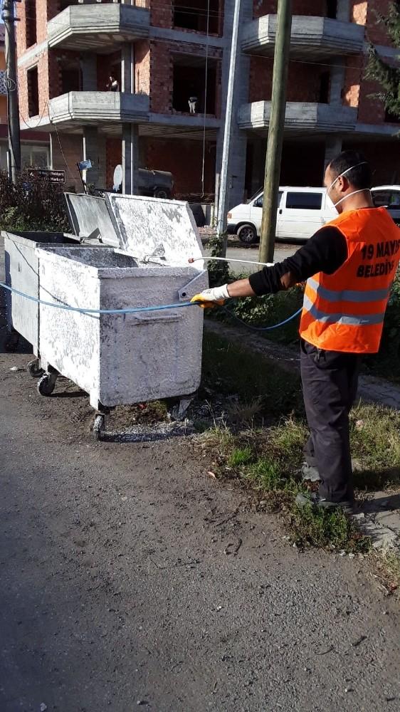 19 Mayıs Belediyesi çevre temizliğini sürdürüyor