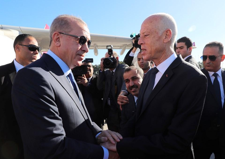 Cumhurbaşkanı Erdoğan Tunus'ta konuşuyor