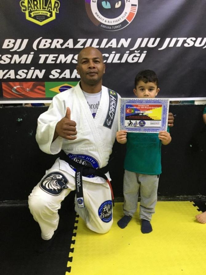 Brezilyalı BJJ ustası Sivas'ta eğitim verdi