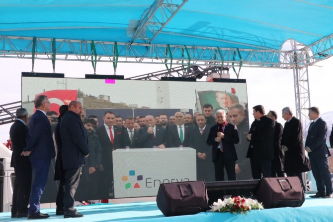 İliç'te gaz yakma töreni gerçekleştirildi