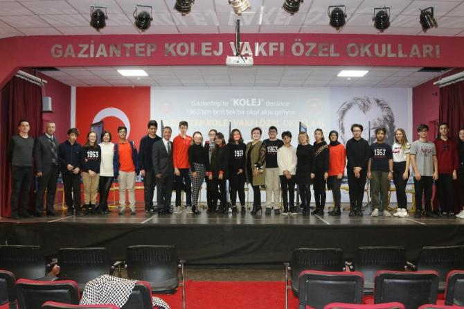 Gaziantep Kolej Vakfı'nda bilgi yarışması heyecanı