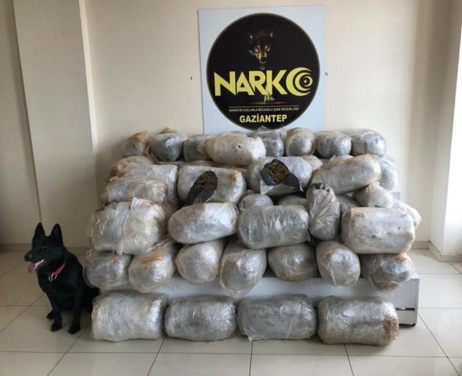Gaziantep'te uyuşturucu sevkiyatına büyük darbe