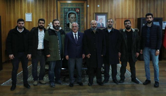 Yurt Dışı Filistinli Âlimler Derneği Başkanından Rektör Çomaklı'ya ziyaret