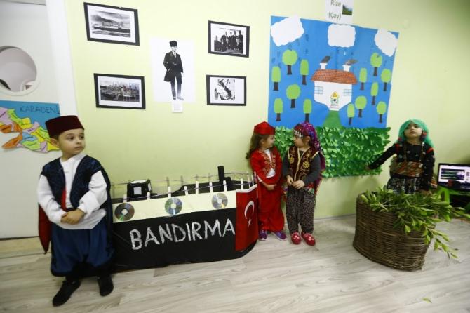 Miniklere 7 bölge yerli malı kutlaması