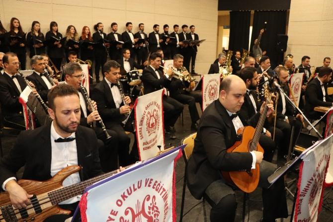 OMÜ ve Sahra Sıhhiye Eğitim Merkezi Komutanlığından 100. yıl konseri