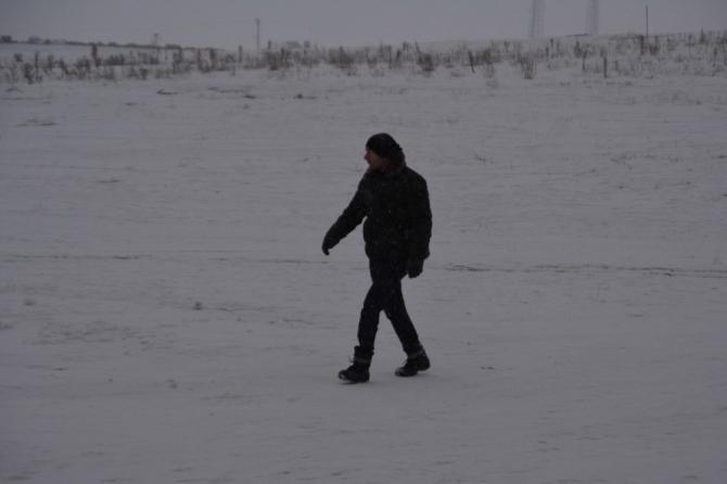 Sarıkamış'a beklenen kar geldi