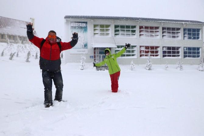 Kayak merkezinde kar kalınlığı 50 santimetreye ulaştı
