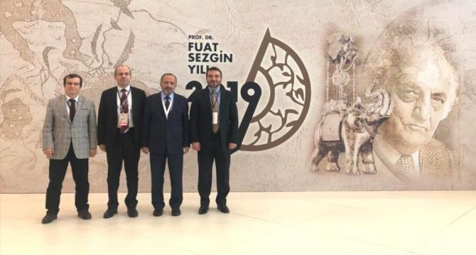Rektör Çufalı, İstanbul'da 2019 Fuat Sezgin yılı kapanış törenine katıldı