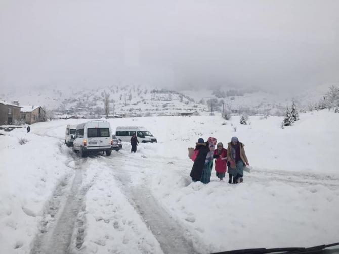 Sincik'te okullar 1 gün tatil edildi