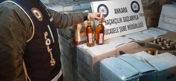 Başkent'te yılbaşı öncesi kaçak içki operasyonu