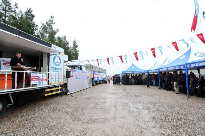 Şahinbey Belediyesinden hayvan yetiştiricilerine 7 bin ton yem desteği