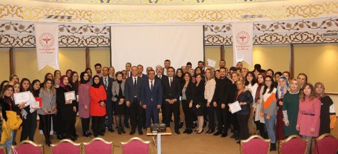Elazığ'da Yenidoğan Canlandırma Eğitimine katılanlara sertifika verildi